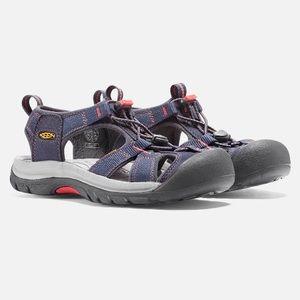Keen Venice H2 Sandals Midnight Navy/Hot Coral 7